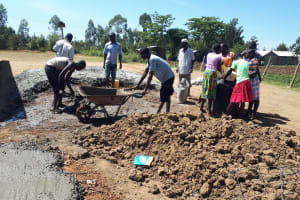 The Water Project: Namarambi Primary School -  Tank Construction