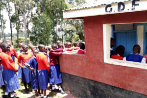 The Water Project: Goibei Primary School -  Crowds At Latrine