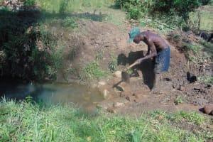 The Water Project: Mukoko Community, Mukoko Spring -  Excavation