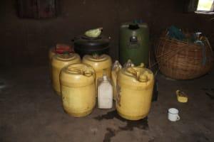The Water Project: Bukhakunga Community, Mukomari Spring -  Water Containers
