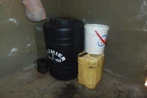 The Water Project: Shamiloli Community, Kwasasala Spring -  Water Storage