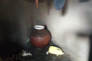 The Water Project: Buhayi Community, Nasichundukha Spring -  Drinking Water Storage