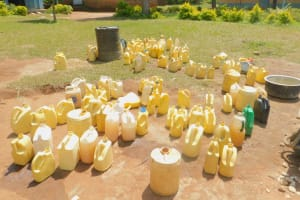 The Water Project: Mabanga Primary School -  Water Provided For Mixing Cement