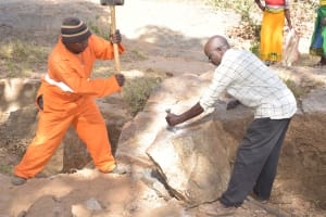 The Water Project: Munyuni Community -  Harvesting Stones