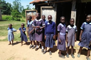 The Water Project: Enyapora Primary School -  Latrines