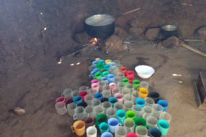 The Water Project: Ebukhayi Primary School -  Drinking Cups In The Kitchen