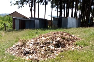 The Water Project: Mukama Primary School -  Garbage Pile