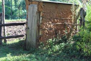 The Water Project: Bukhakunga Community, Mukomari Spring -  Mud Latrine
