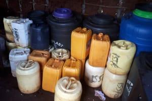 The Water Project: Ikumba Secondary School -  Water Storage In School Kitchen