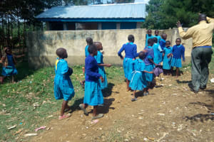 The Water Project: Shichinji Primary School -  Crowds At Latrines