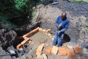 The Water Project: Mukoko Community, Mukoko Spring -  Spring Construction
