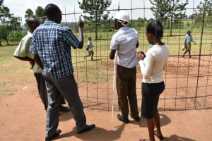The Water Project: Mabanga Primary School -  Checking Measurements