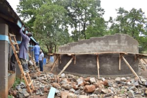 The Water Project: Kitandi Primary School -  Tank Construction