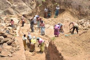 The Water Project: Munyuni Community -  Sand Dam Trenching