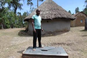 The Water Project: Bukhakunga Community, Ngovilo Spring -  Finished Sanitaiton Platform