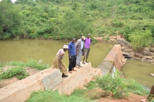 The Water Project: Kyetonye Community -  Finished Sand Dam