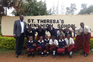 The Water Project: St. Theresa's Bumini High School -  Students At Gate