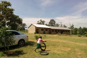 The Water Project: Ebukhayi Primary School -  Playing With Tires On School Grounds