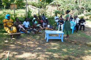 The Water Project: Bukhakunga Community, Khayati Spring -  Training Turnout Once Lonita Helped Gather Everyone