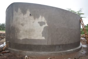 The Water Project: Kitandi Primary School -  Tank Curing