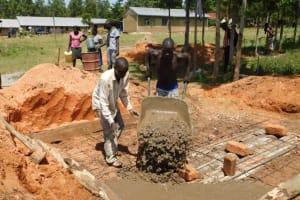 The Water Project: Shikusa Primary School -  Latrine Construction