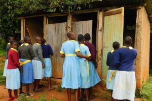The Water Project: Hobunaka Primary School -  Latrines