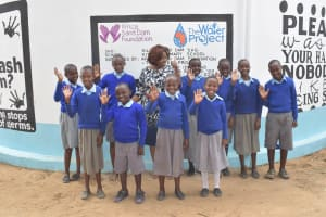 The Water Project: Kitandi Primary School -  Finished Tank