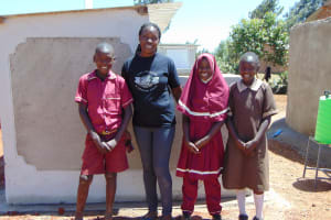 The Water Project: Namarambi Primary School -  Finished Latrines