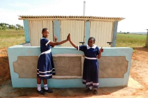 The Water Project: Shikusa Primary School -  Finished Latrines