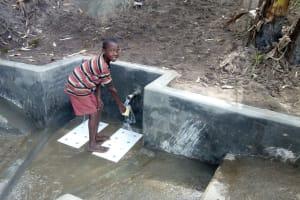 The Water Project: Bukhakunga Community, Khayati Spring -  Water Flowing