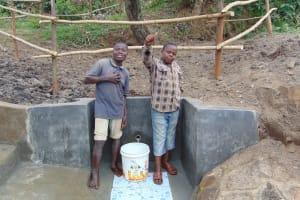 The Water Project: Mukoko Community, Mukoko Spring -  Water Flowing