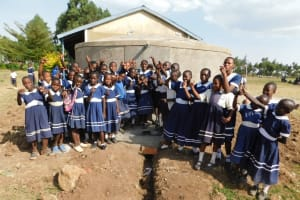 The Water Project: Shikusa Primary School -  Finished Tank