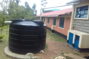 The Water Project: Dr. Gimose Secondary School -  Small Plastic Tank Attached To Lab
