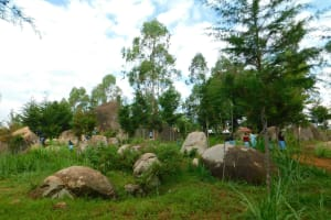 The Water Project: Hobunaka Primary School -  Rocky Landscape At School