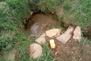 The Water Project: Shihingo Community, Inzuka Spring -  Current Water Source