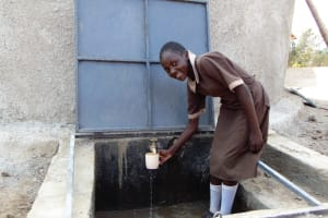 The Water Project: Namarambi Primary School -  Flowing Water