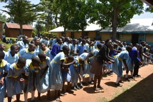 The Water Project: Mabanga Primary School -  Dancing Celebration