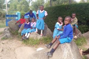 The Water Project: Banja Primary School -  Students Playing On Stones