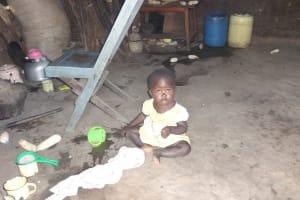 The Water Project: Bungaya Community, Charles Khainga Spring -  Child Playing Inside