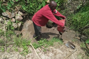 The Water Project: Tumaini Community, Ndombi Spring -  Clearing Nearby The Spring To Find The Source