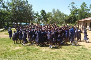 The Water Project: Enyapora Primary School -  Students Celebrating News Of A Project