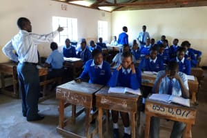 The Water Project: Banja Secondary School -  Students In Class