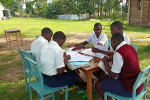 The Water Project: Ematiha Secondary School -  Group Discussion Outside