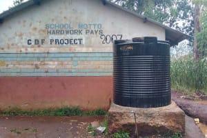 The Water Project: St. Joseph's Lusumu Primary School -  Plastic Tank