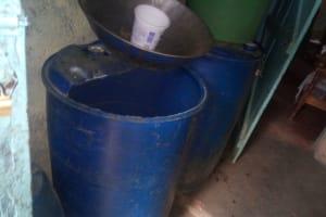 The Water Project: Shihingo Community, Inzuka Spring -  Water Storage