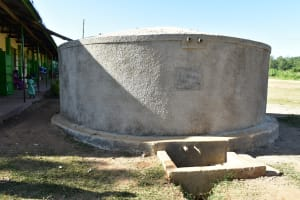 The Water Project: Eshikufu Primary School -  Finished Tank