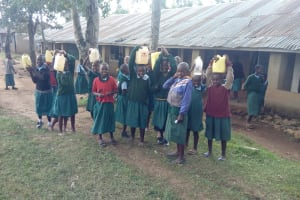 The Water Project: Bumbo Primary School -  Students Returning From Lunch