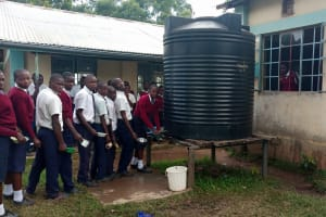 The Water Project: Ematiha Secondary School -  Plastic Tank That Runs Dry