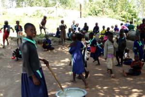 The Water Project: Mukama Primary School -  Porridge Being Prepared For Preschool Children