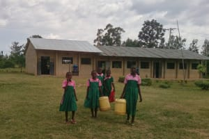 The Water Project: Ebukhayi Primary School -  Students With Their Water Containers